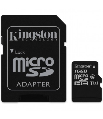 Karta pamięci microSDHC Kingston Class 10 16GB + Adapter SD