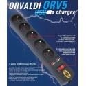 Listwa przeciwprzepięciowa Orvaldi ORV 5 z ładowarką 2xUSB/1A (1,5 m)