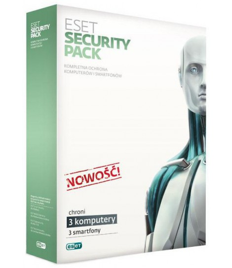 Eset Security Pack przedłużenie licencji o 1 rok (3 komputery i 3 smartfony)