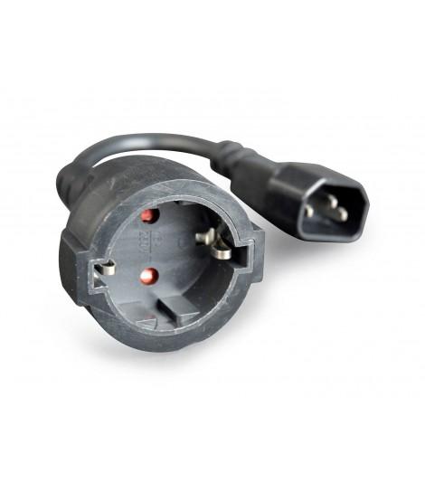 Kabel zasilający Gembird PC-SFC14M-01 IEC 320 C14 - schuko(F) do UPS 15 cm