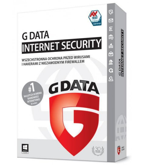 G Data Internet Security licencja na 1 rok (1 komputer)