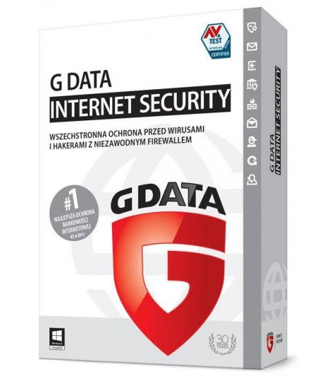 G Data InternetSecurity licencja na 1 rok (3 komputery)