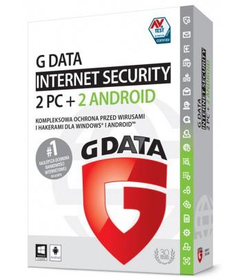 G Data Internet Security licencja na rok (2 komputery i 2 smartfony)