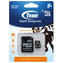 Karta pamięci microSDHC Team Group Class 4 8GB + Adapter SD