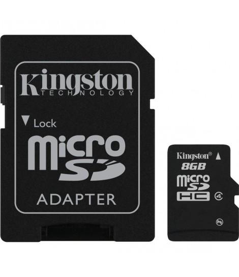 Karta pamięci microSDHC Kingston Class 4 8GB + adapter SD