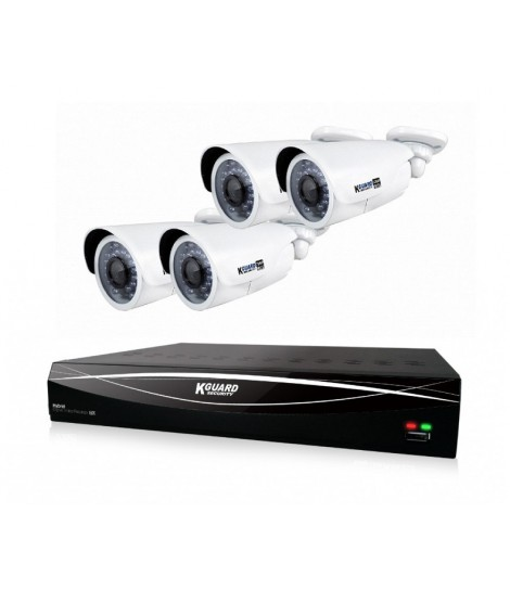 Zestaw do monitoringu ComboKIT KGuard HD881-4WA813F (rejestrator HD881 + 4x kamera WA813FPK)