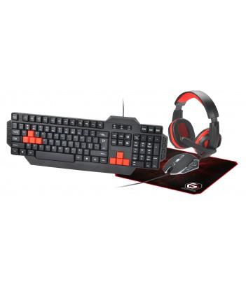 Zestaw gamingowy 4 w 1 Gembird GGS-UMG4-01 (klawiatura, mysz, podkładka i słuchawki)