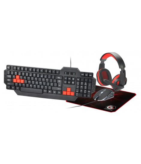 Zestaw gamingowy 4 w 1 Gembird GGS-UMG4-01 (klawiatura, mysz, podkładka, słuchawki)