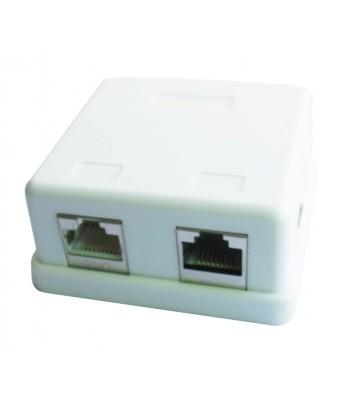 Gniazdo natynkowe FTP Gembird NCAC-HS-SMB2 2x RJ-45, kat. 5e
