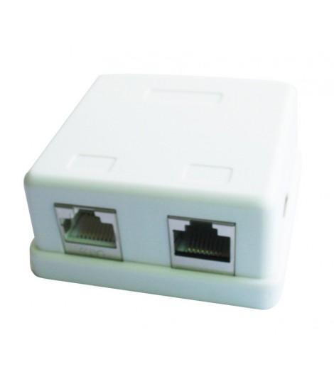 Gniazdo natynkowe FTP Gembird NCAC-HS-SMB2 2x RJ-45, kat.5e