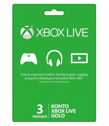 Karta Xbox Live abonament na 3 miesiące