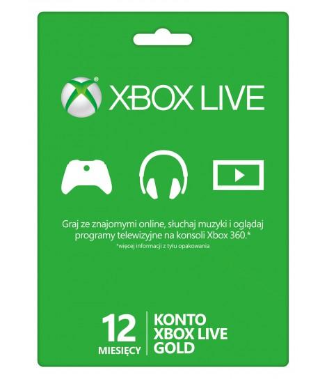 Karta Xbox Live abonament na 12 miesięcy