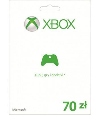 Karta Xbox 70 PLN
