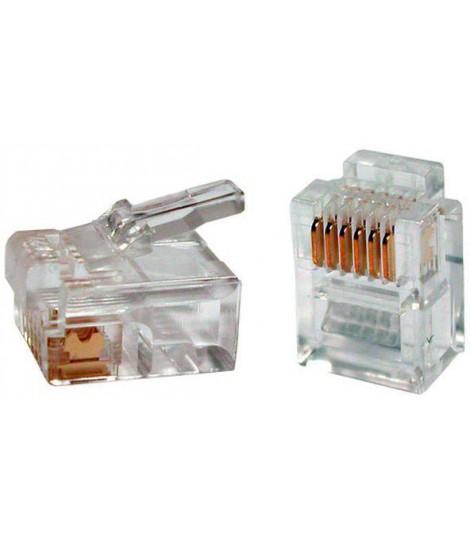 Wtyk telefoniczny RJ-12 Gembird MP-64P6C (opakowanie 100 szt.)