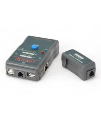 Tester kabli RJ-45, RJ-11, UTP, STP, USB AA/AB Gembird NCT-2