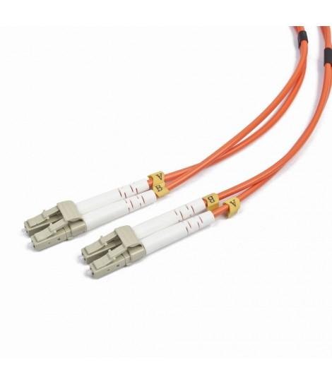 Kabel światłowód krosowy Gembird LC-LC duplex mm 50/125 OM2 (1 m)