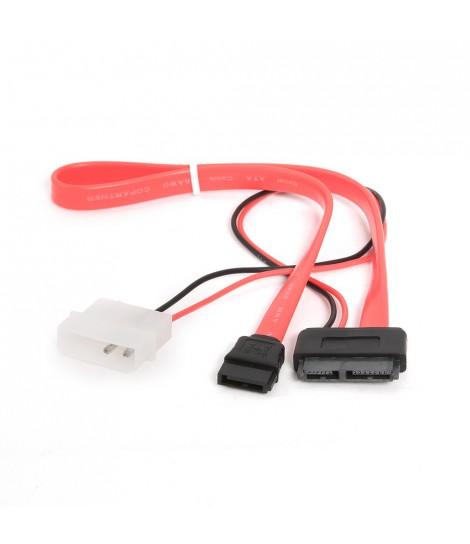 Kabel zasilający SATA III Slimline + kabel danych Combo 2 w 1 Gembird CC-SATA-C2