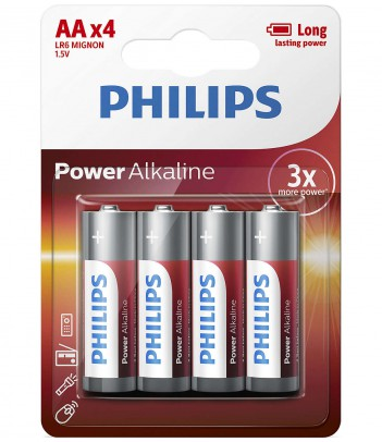 Bateria alkaliczna Philips Power Alkaline LR6, typ AA (4 szt.)