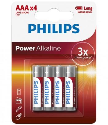 Bateria alkaliczna Philips Power Alkaline LR03, typ AAA (4 szt.)