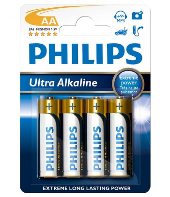 Bateria alkaliczna Philips Ultra Alkaline LR6, typ AA (4 szt.)