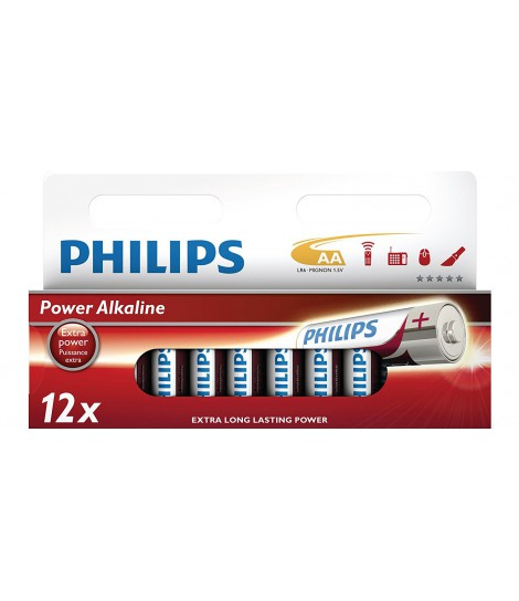 Bateria alkaliczna Philips Power Alkaline LR6, typ AA (12 szt.)