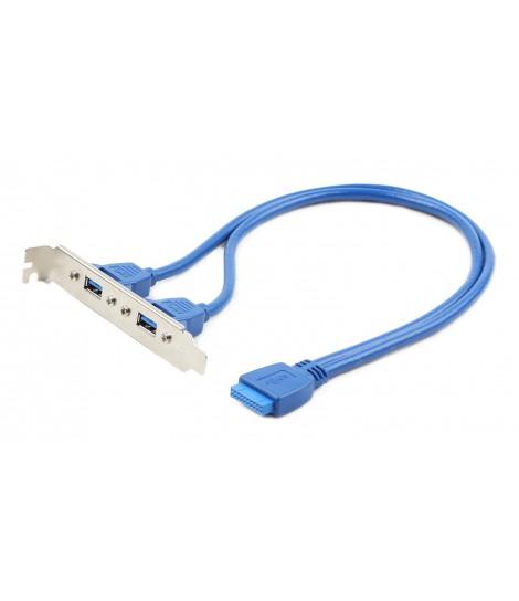 Gniazdo na śledziu Gembird CC-USB3-RECEPTACLE do obudowy (2x USB 3.0)