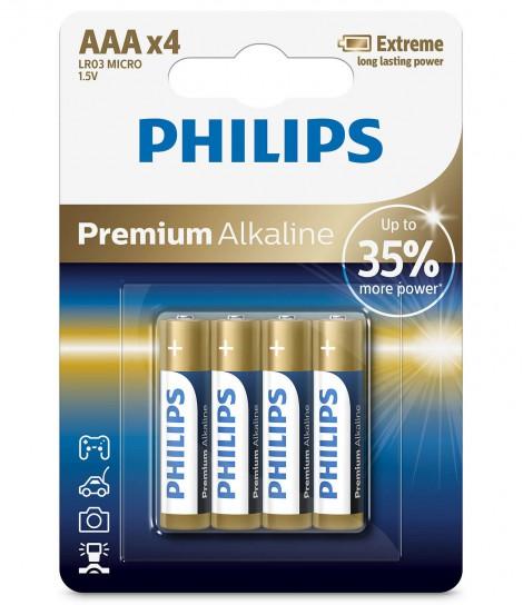 Bateria alkaliczna Philips Premium Alkaline LR03, typ AAA (4 szt.)