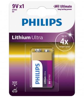 Bateria litowa Philips Lithium Ultra 6LR61 (1 szt.)