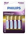 Bateria litowa Philips Lithium Ultra LR6, typ AA (4 szt.)