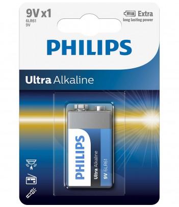 Bateria alkaliczna Philips Ultra Alkaline 6LR61 (1 szt.)