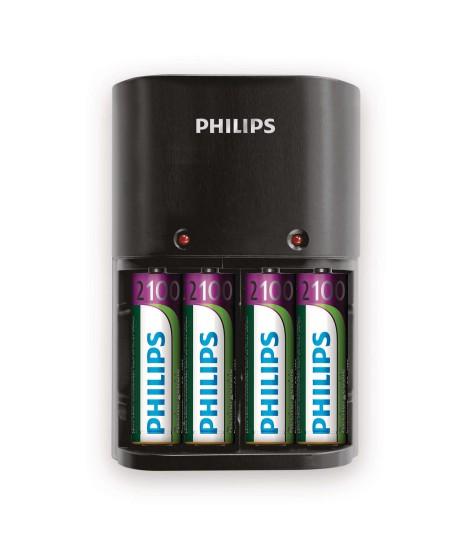Ładowarka akumulatorów typu AA i AAA Philips SCB1490NB/12 + 4 baterie AA 2100 mAh