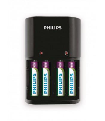 Ładowarka akumulatorów typu AA i AAA Philips SCB1450NB/12 + 4 akumulatory AAA 800 mAh