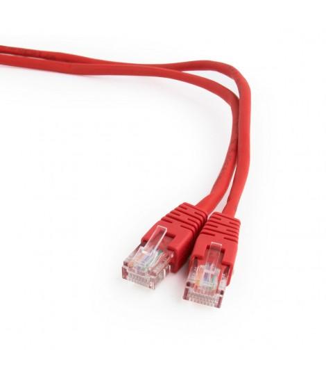 Kabel sieciowy UTP Gembird PP12-0.25M/R kat. 5e, Patch cord RJ-45 (0,25 m)