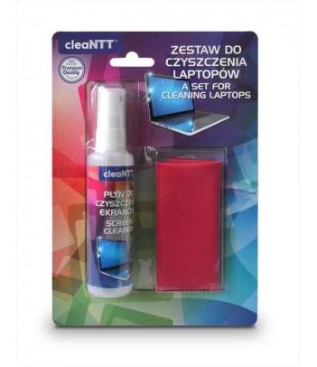 Zestaw cleaNTT CLN0033 do czyszczenia ekranów, płyn 60 ml + mikrofibra