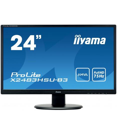 """iiyama 23.8"""" AMVA X2483HSU-B3 (GWARANCJA ZERO MARTWYCH PIXELI)"""