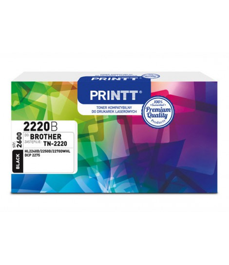 Toner PRINTT do BROTHER NTB2220B (TN-2220) czarny 2600 str.