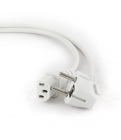 Kabel zasilający komputerowy IEC 320 C13 z certyfikatem VDE Gembird PC-186W-VDE (1,8 m)