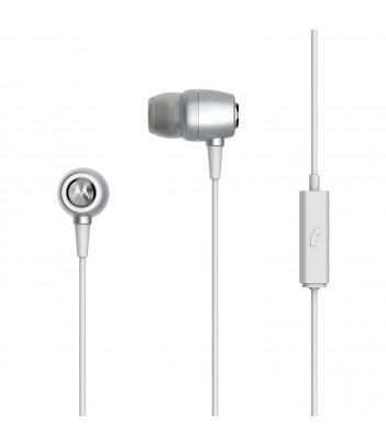 Słuchawki douszne Motorola Earbuds Metal (srebrne)