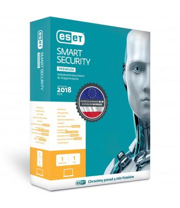 Eset Smart Security Premium licencja na 1 rok (1 użytkownik)
