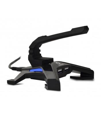 Hub USB 2.0 HIRO Atlas z uchwytem na kabel myszy