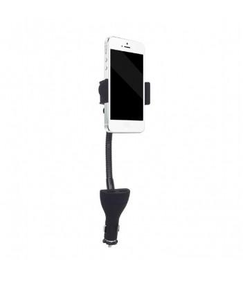 Uchwyt samochodowy na smartfona z ładowarką USB Gembird