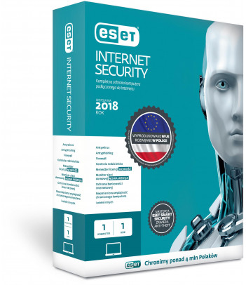 Eset Internet Security BOX 1 user 1 year