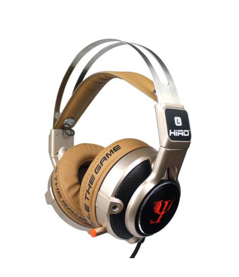 Słuchawki gamingowe HIRO Psi (złote)