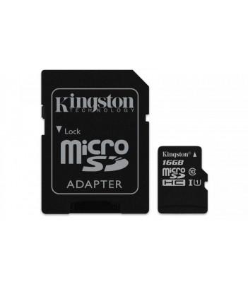 Karta pamięci Micro SD Kingston Class 10 Canvas Select 16GB + AdapterSD