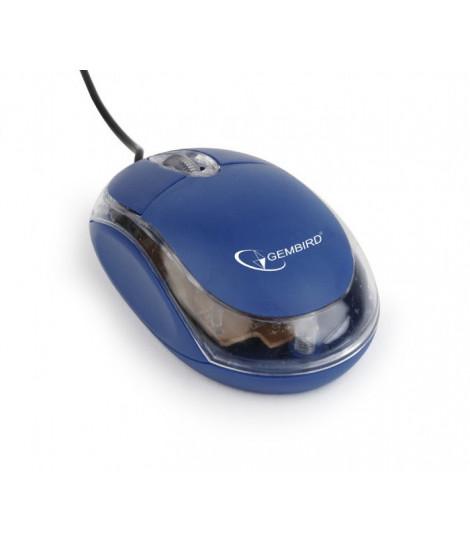 Mysz Gembird MUS-U-01-BT (niebiesko-przezroczysta)