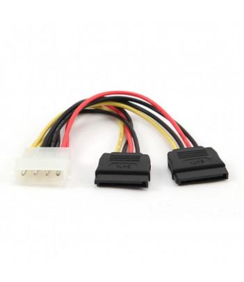 Kabel do dysków Serial ATA zasilający x2 SATA 0,3 m Gembird