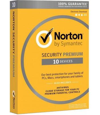 Symantec Norton Security 3.0 PREMIUM PL 10 Urządzeń 1 Rok Card