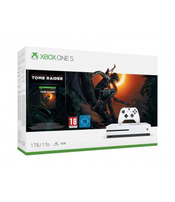 Konsola Xbox One S 1TB z grą Shadow of the Tomb Raider