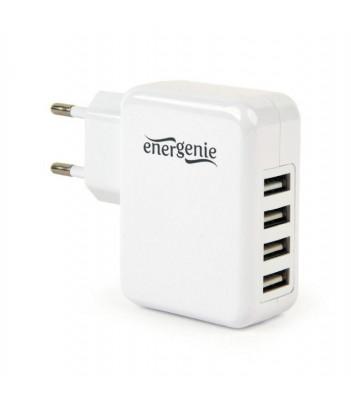 Ładowarka sieciowa USB Gembird 4 porty USB 3.1 (biała)