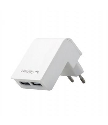 Ładowarka sieciowa Gembird 2 porty USB 2.1A (biała)